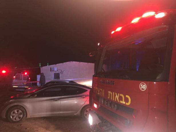 تل السبع: اضرام النار في فرع البريد والتسبب بأضرار