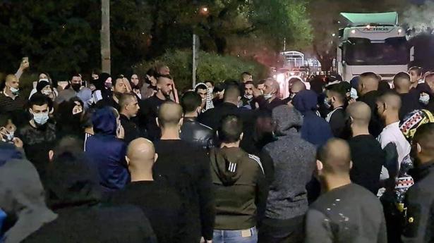 مواجهات بين المتظاهرين في بسمة طبعون والشرطة