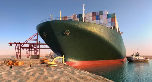 أضرار اقتصادية كبيرة بسبب السفينة العالقة في قناة السويس: تأخير حوالي 30 ألف حاوية كانت في طريقها إلى اسرائيل