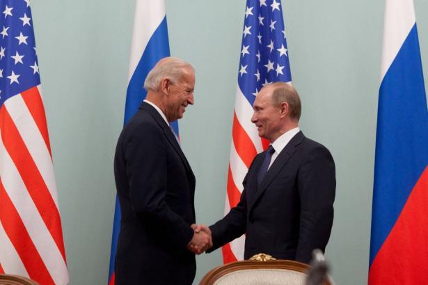 اللقاء الاول بين رئيس بوتين والرئيس الاميريكي بايدن