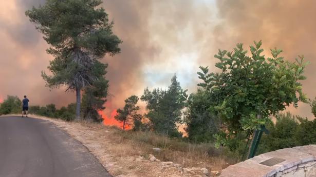 تلخيص عمل طواقم الإطفاء في جبال القدس