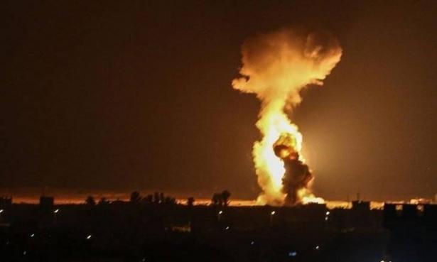 قصف اسرائيلي في جنوب القطاع على مواقع عسكرية لحركة حماس